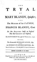 download ebook the tryal of mary blandy ... for the murder of her father, francis blandy pdf epub