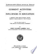 Current Activities and Influences in Education