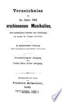 Jahresverzeichnis der deutschen Musikalien und Musikschriften
