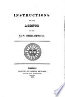 Instructions for the Agents of the Sun Fire Office