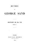 Oeuvres de George Sand  Histoire de ma vie