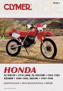 Honda XL XR250 1978 2000  XL XR350R 1983 1985  XR200R