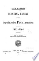 Biennial Report of the Superintendent of Public Instruction for the School Years