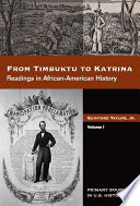 From Timbuktu to Katrina  Sources in African American History