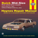 Buick Mid Size Models Manual