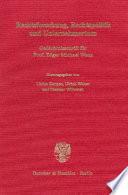 Rechtsforschung, Rechtspolitik und Unternehmertum