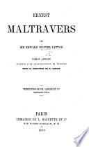 Ernest Maltravers ... Roman anglais traduit ... sous la direction de P. Lorain (par Mlle Collinet).