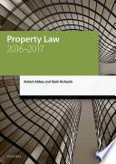 Property Law 2016 2017