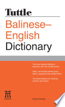 Tuttle Balinese English Dictionary