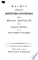 Allgemeiner musikalischer Katechismus