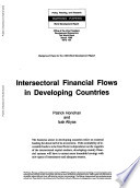 Intersectoral Financial Flows in Developing Countries