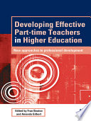 Developing Effective Part time Teachers in Higher Education