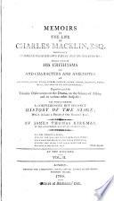 Memoirs of the Life of Charles Macklin, 2