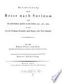 Beschreibung einer Reise nach Surinam ... in den Jahren 1805-07