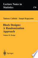 Block Designs  A Randomization Approach