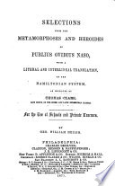 download ebook selections from the metamorphoses and heroides of publius ovidius naso, with a literal and interlineal translation on the hamiltonian translation, as improved by thomas clark pdf epub