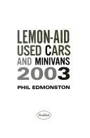 Lemon Aid Used Cars Minivans 2003