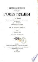 Histoire critique des livres de l Ancien testament par A  Kuenen
