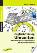 Englischtraining  Uhrzeiten