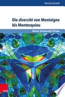 Die diversit   von Montaigne bis Montesquieu