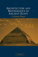 Architecture and Mathematics in Ancient Egypt