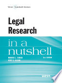 Legal Research in a Nutshell  11th