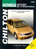 Chilton S Honda Odyssey 2001 10 Repair Manual