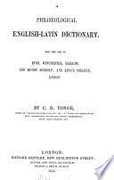 A phraseological English Latin dictionary