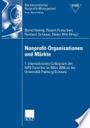 Nonprofit-Organisationen und Märkte