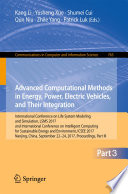Advanced Computational Methods in Energy  Power  Electric Vehicles  and Their Integration