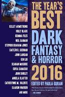 The Year S Best Dark Fantasy   Horror 2016 Edition