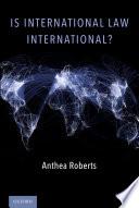 Is International Law International