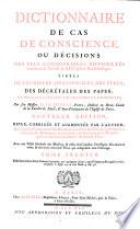 Dictionnaire de cas de conscience