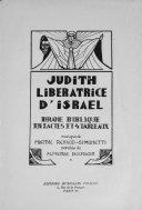 Judith  lib  ratrice d Isra  l
