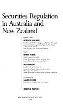 Securities regulation in Australia and New Zealand