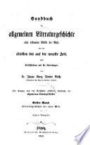 Literäturgeschichte der alten Welt
