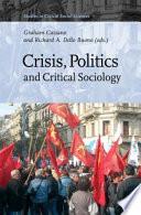 Crisis, Politics and Critical Sociology