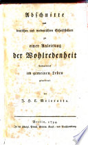 Abschnitte aus deutschen     Schriftstellern zu einer Anleitung der Wohlredenheit