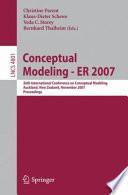 Conceptual Modeling   ER 2007