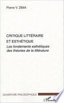 Critique littéraire et esthétique