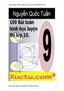 100 bài toán hình học lớp 9 luyện thi 10 có hướng dẫn giải chi tiết