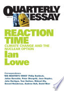 Quarterly Essay 27 Reaction Time