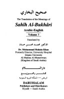The Translation Of The Meanings Of Sah H Al Bukh Ri Arabic English 7 Ah Dith 5063 To 5969 book