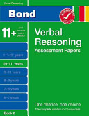 Bond Verbal Reasoning Assessment Papers 10 11  Years