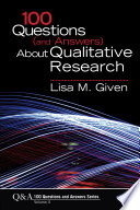 100 Questions And Answers About Qualitative Research