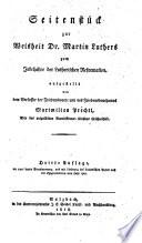 Seitenstück zur Weisheit Dr. Martin Luthers zum Jubeljahre der Lutherischen Reformation