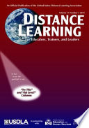 Distance Learning Journal Issue