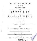 Der Freimüthige, oder Berlinische Zeitung für gebildete, unbefangene Leser; mit Kupfern und Musikblättern