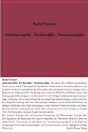 Anthroposophie   Psychosophie   Pneumatosophie