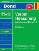 New Bond Assessment Papers Verbal Reasoning 9 10 Years